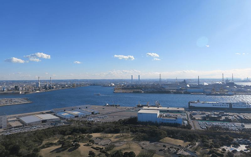 千葉ポートタワーから見える工場