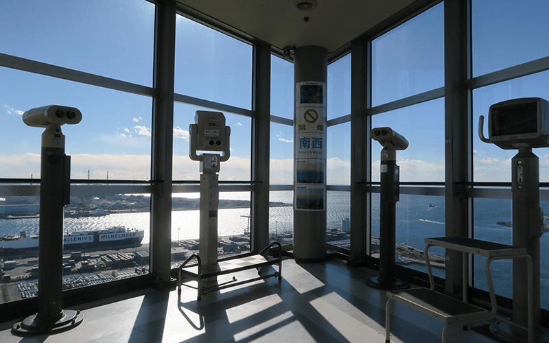 千葉ポートタワーの望遠鏡