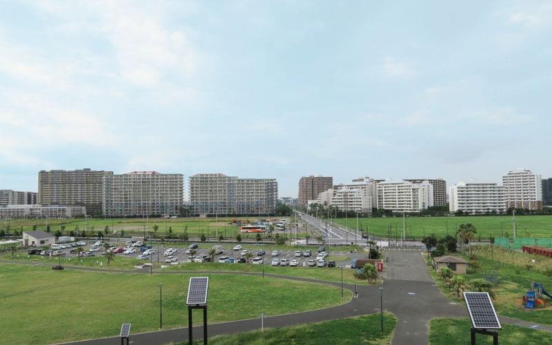 高洲海浜公園の駐車場