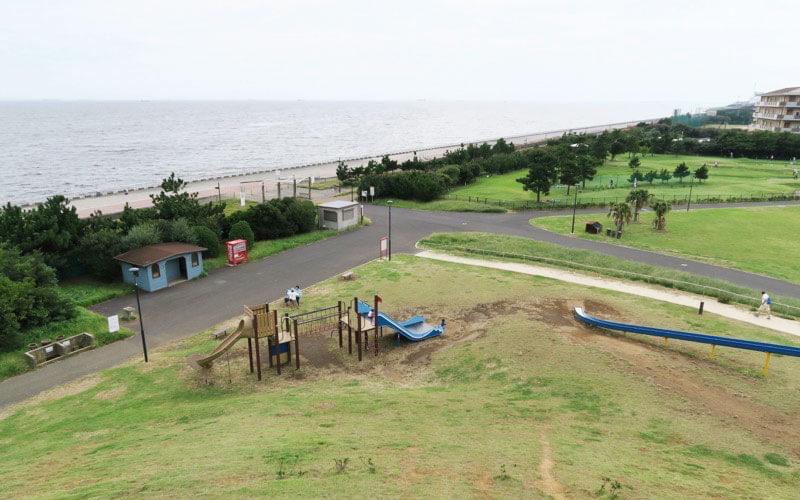 高洲海浜公園の展望台からの景色