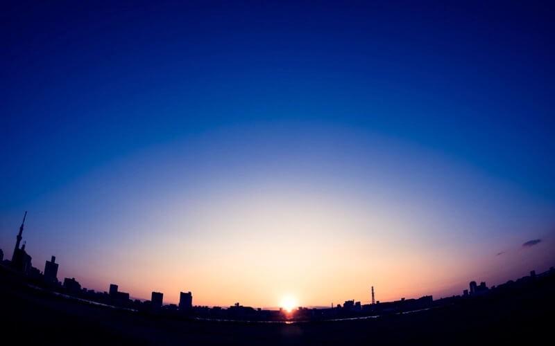 2018年の日の出の画像