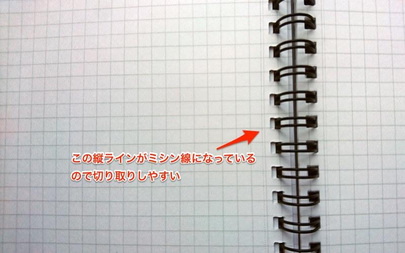 図案ノートにはミシン目がある