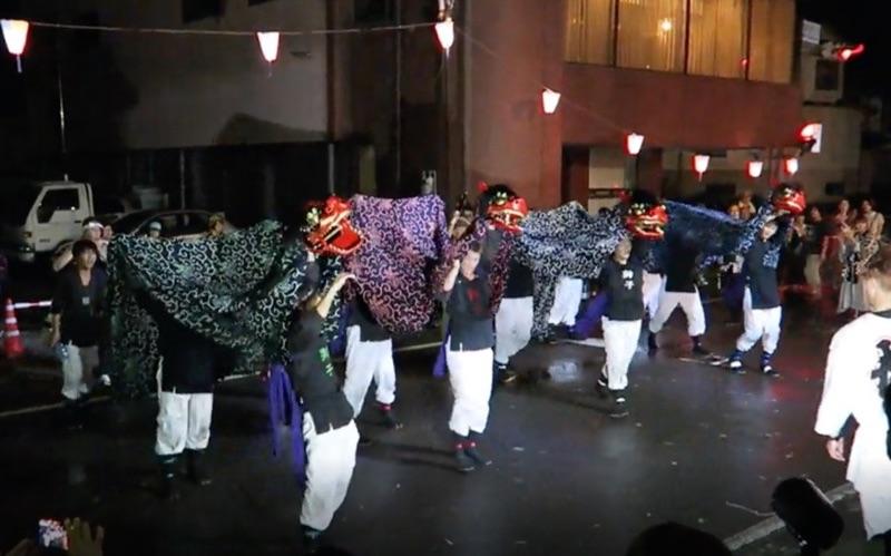 榊祭りの獅子舞