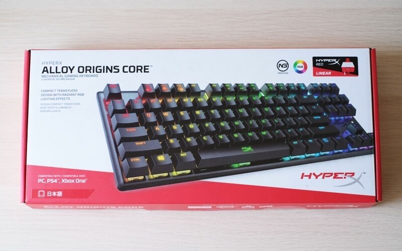 HyperX Alloy Origins Core RGBの箱