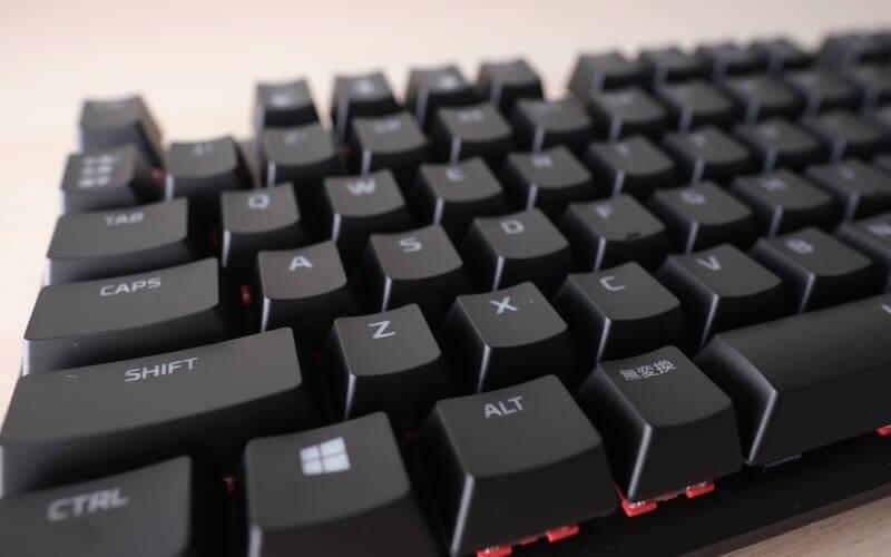 HyperX Alloy Origins Core RGBのキーボード面