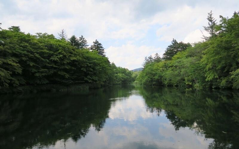 軽井沢の雲場池の画像